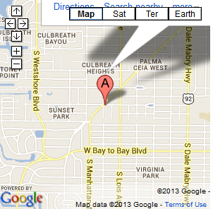View map top Salon Suites to find Denise Hair Salon Tampa in Suite 4